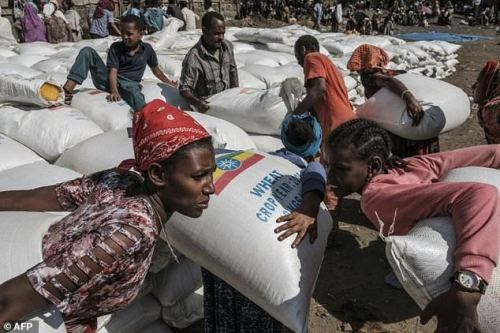 Many people in Tigray are dependent on food handouts after months of fighting