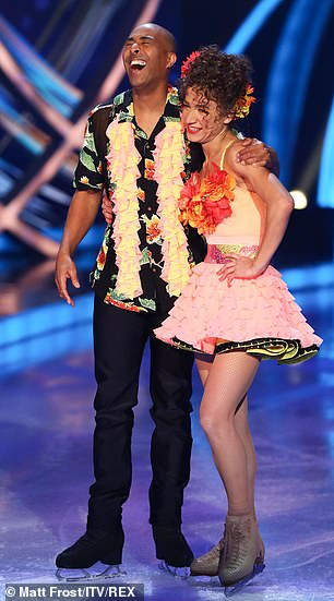 Got the moves: Elsewhere, Colin Jackson performed a samba which he admitted was 'a lot of fun' as he 'loves the music'