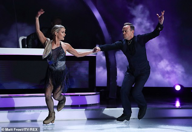 On the ice:Jason Donovan also improved this week, adding more content to his performance, with Jayne telling him to keep it up as ' you naturally can perform'
