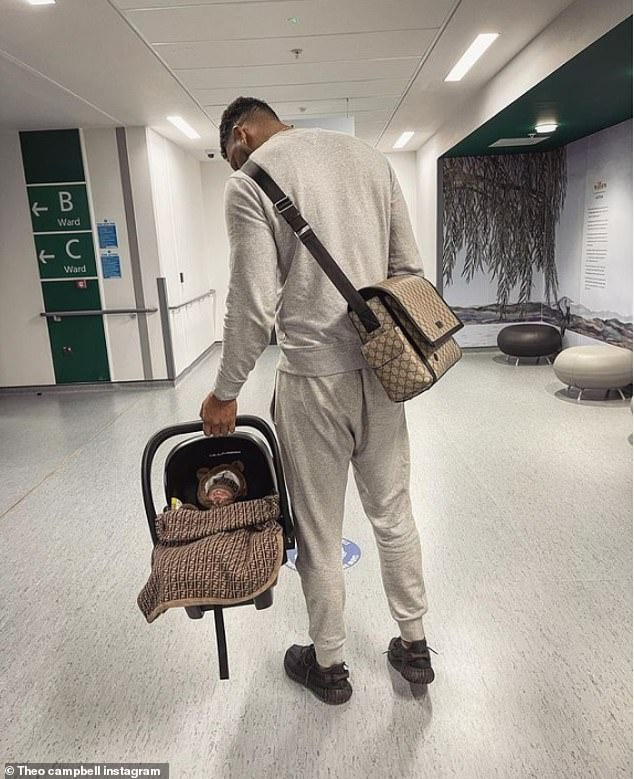 Honest: Love Island's Theo Campbell has revealed that he 'wasn't expecting' to become a father at his age as he discusses becoming a parent for the first time