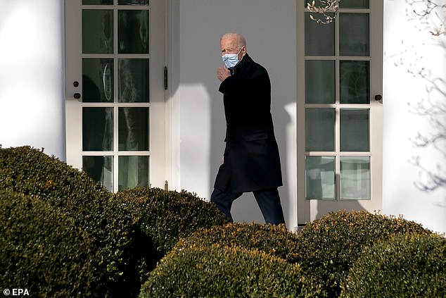 President Joe Biden declined to talk about the trial when he returned to the White House on Monday