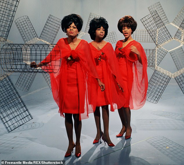 Trailblazers: Wilson was at the forefront of the Motown sound after signing with the label in 1961, originally as a member of The Primettes before the group changed their name to The Supremes( pictured L-R: Band-mates Diana Ross, Mary Wilson and Florence Ballard)