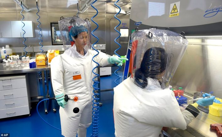 Dr Embarek said his team has ruled out the possibility that the virus leaked from a lab such as the Wuhan Institute of Virology (pictured), saying such a leak is 'extremely unlikely' and should not be investigated further