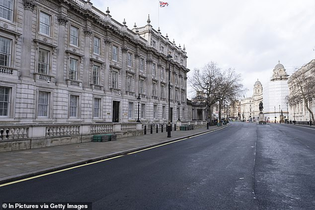 The Cabinet Office (pictured in Lockdown) is alleged to have a team that black lists journalists and also advising departments on how to wriggle out of releasing information