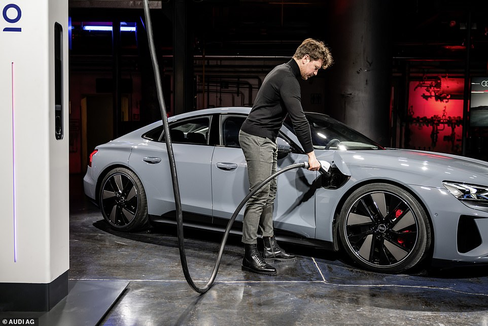With charging ports behind both front wheels, the GT can charge overnight on a 11kW AC charger as standard. A more powerful optional 22kW is to follow shortly after launch