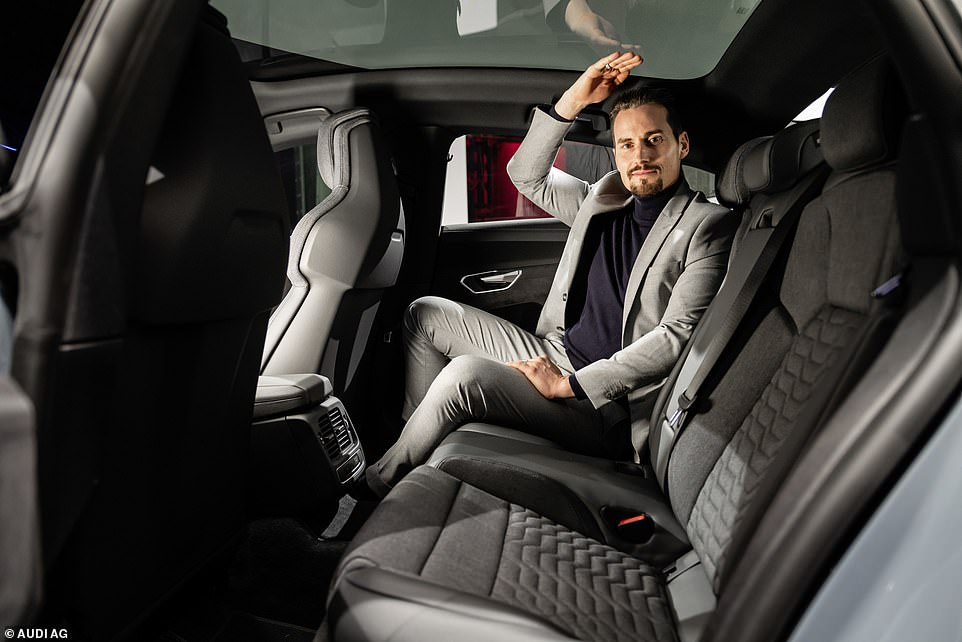 As well as a foot garage, Audi says adults will be comfortable in the second row with plenty of head-room available