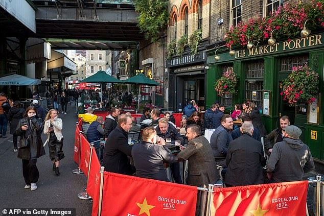 UKHospitality Chief Executive Kate Nicholls said the industry hopes to reopen from the start of April but notes there are caveats with this. Pictured: Borough Market in September