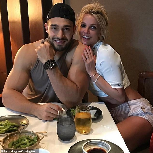 Speaking out: Britney's boyfriend Sam Asghari has not been as quiet as his partner, recently launching an astonishing attack on the pop icon's father