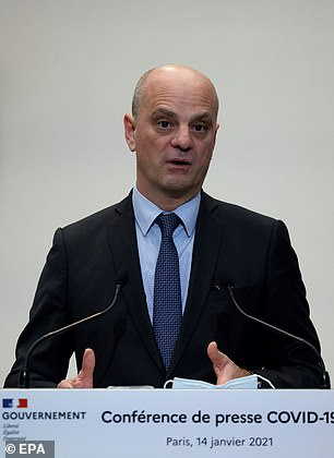 French Education Minister Jean-Michel Blanquer, pictured, accused the universities, under the influence of America, of being complicit in Islamist terror attacks