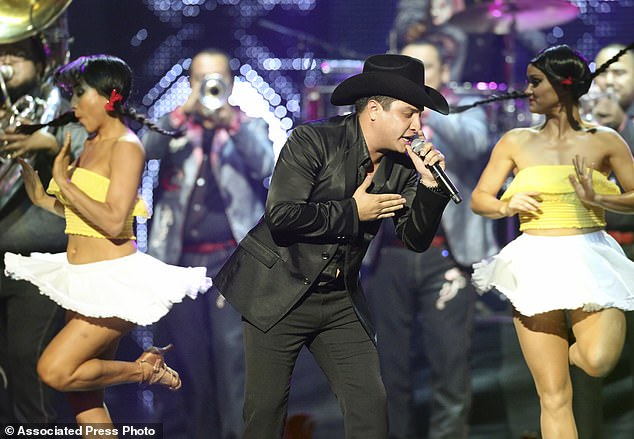 Julion Álvarez, pictured during his performance at the 2012 Billboard Mexican Music Awards at the Shrine Auditorium, in Los Angeles, was among 22 people who in August 2017 were sanctioned by the U.S. Treasury Department for alleged ties to Raúl Flores, a drug trafficker