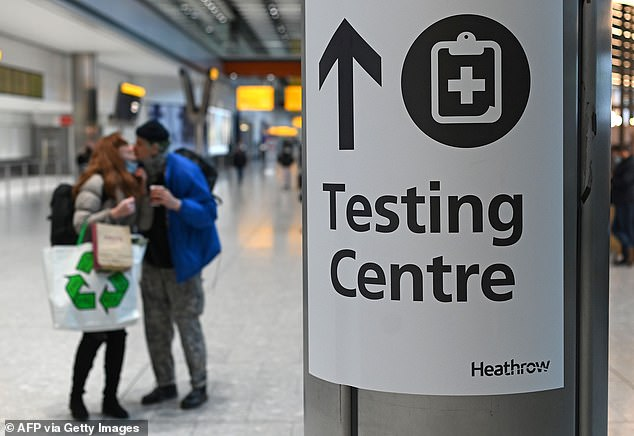 Holidaymakers and business travellers will have to book tests through an online portal before returning home. Picture: Stock