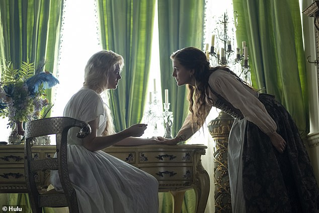 In the show: Elle (left) portrays Catherine the Great, in Russia during the 18th century