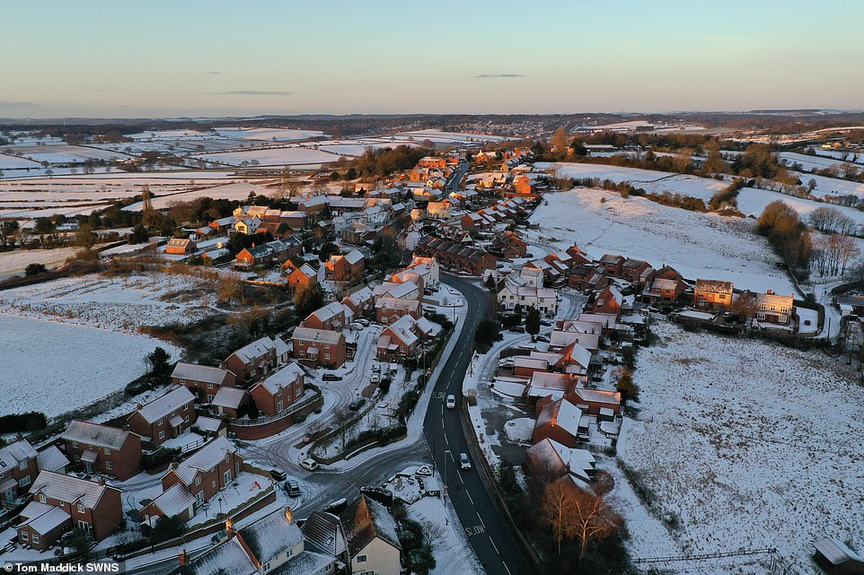 Blidworth Village, Nottinghamshire.Director of Age UK Caroline Abrahams has warned elderly people with vaccine appointments not to attempt travelling through treacherous conditions