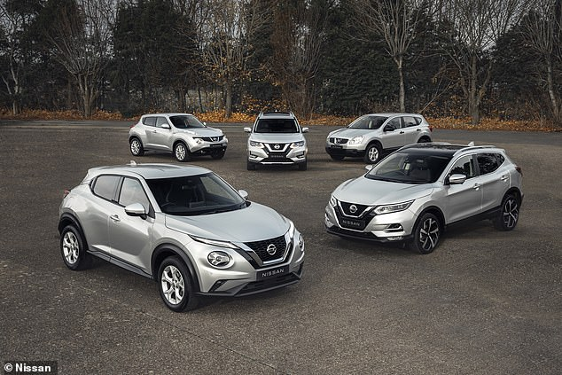 The Japanese car maker celebrated the achievement by wrapping every crossover contributing to one million sales in platinum wraps