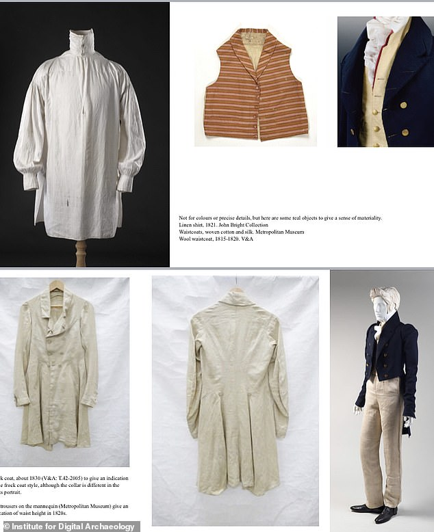 The Victoria and Albert Museum were involved in the clothing selection - it had to match Keats working class background and the final outfits were 'contentious'