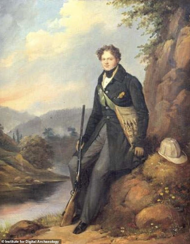 This painting of Edouard Pingret , a French painter and lithographer, was used to design the clothing for the virtual Keats project