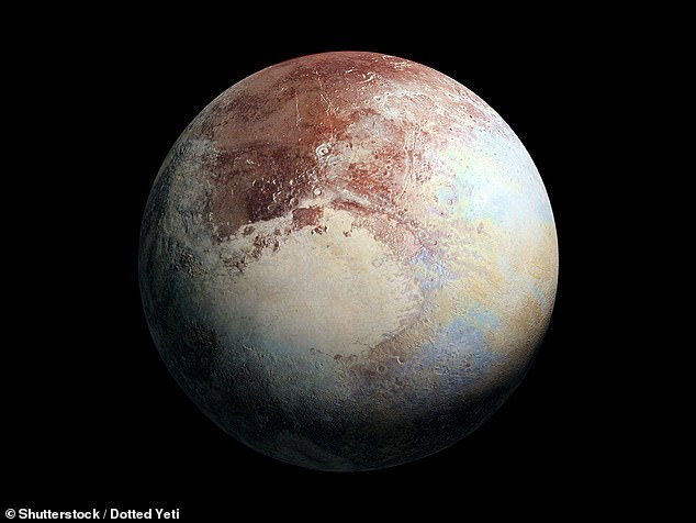 Researchers explain that Pluto (pictured) is covered with a Nitrogen ice layer that is about 110,880 feet thick. Also located in the Kuiper Belt is a smaller dwarf planet called Gonggong, which sits just beyond Pluto, and is covered in a layer that is about 58,080 feet thick