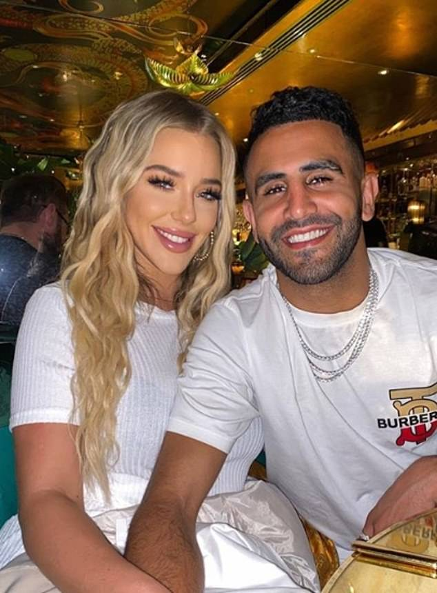 Mahrez was said last week to have split from his wife before hooking up withfashion student Taylor Ward, 22 (pictured)— daughter of Real Housewives of Cheshire reality star Dawn, 46