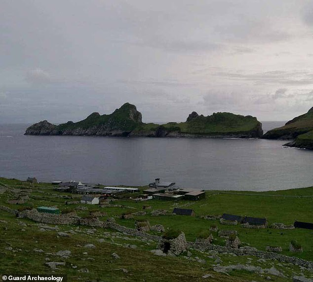 Experts from Guard Archaeology conducted excavations on Hirta from 2017–2019, ahead of the refurbishment of the Ministry of Defence tracking station, pictured, in Village Bay