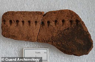 Radiocarbon dating of food remains found on the pottery fragments (pictured) indicated there has once been 'intensive inhabitation' at Village Bay between the 4th–1st Century BC