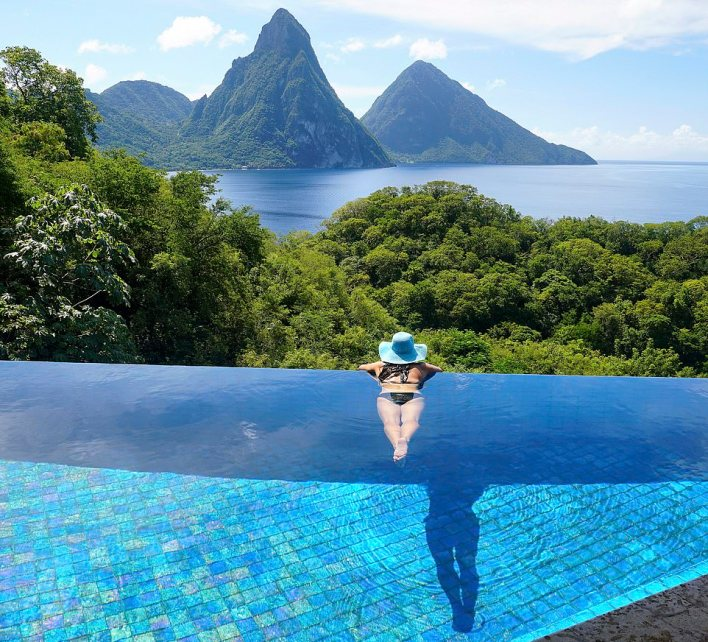 Life for guests at the Jade Mountain resort in St Lucia is sheer paradise -but it's not easy creating hotel heaven, as presenters Monica Galetti and Giles Coren discover in the latest episode of Amazing Hotels: Life Beyond the Lobby