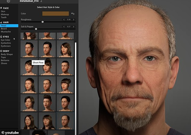 Itprovides dozens of hairstyles, ear types, lip shades and more, allowing users to mix and match to create 3D characters that move and speak as if they were humans - all of which can be completed in less than an hour