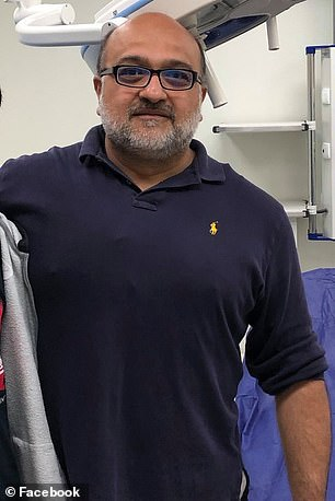 A grand jury declined to indict Dr Hasan Gokal (pictured) after allegations that he stole doses of the Moderna vaccine by distributing them to friends and family