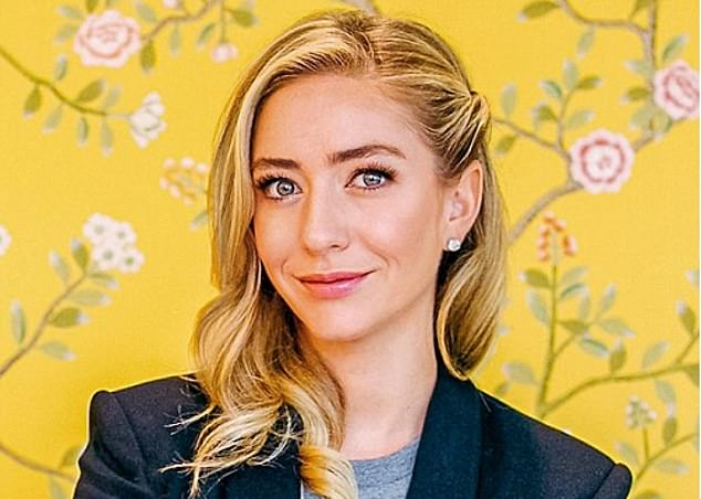 Date with destiny: Whitney Wolfe Herd's wealth jumped from £362m to £1.1bn as her firm celebrated a stellar first-day trading performance on Wall Street