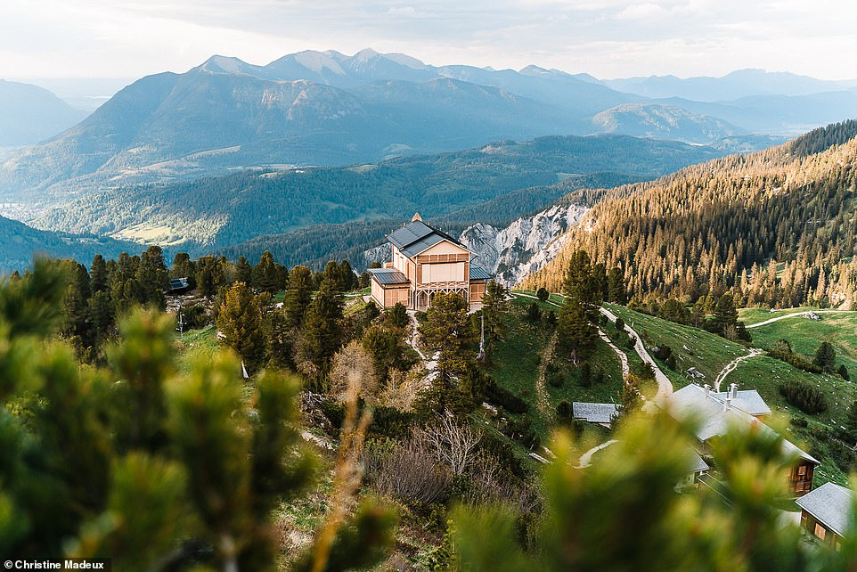 The picturesque Konigshaus am Schachen, a villa in the Wetterstein mountains in the Bavarian Alps, near Garmisch-Partenkirchen. It was built by Ludwig II, the king of Bavaria, between 1869 and 1872 and sits at an altitude of 6,122ft (1,866m). It is only accessible by foot and is usually open for hikers to visit in the summer months