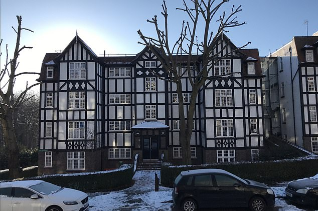 A first floor leasehold flat in this block in Highgate, North London, is being sold at Allsop's 18 February online auction with a guide price of £250,000