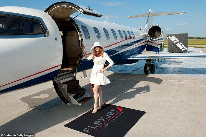 Artist Princess Tarinan von Anhalt celebrating the50th anniversary of Learjet in 2013