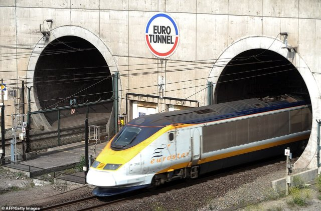 The tunnel which would run from Stranraer, Scotland, to Larne, Northern Ireland, would be a similar length to the Channel tunnel (pictured)
