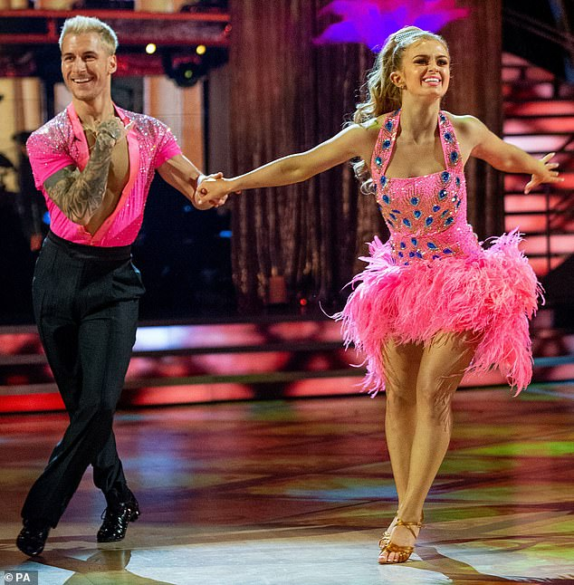 Valiant effort: He and his celebrity dance partner, Maisie Smith, 19, placed as runners-up on the 2020 final of Strictly asBill Bailey and Oti Mabuse walked away victorious