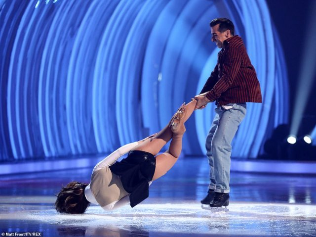 He'll be there for you! They scored well - with the judges praising her for taking on the head-banger move