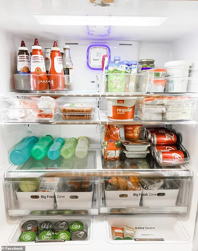 The crisper - an enclosed drawer at the bottom of most fridges - has been designed specifically to keep fruit and vegetables fresh and ready to eat for several days (pictured)