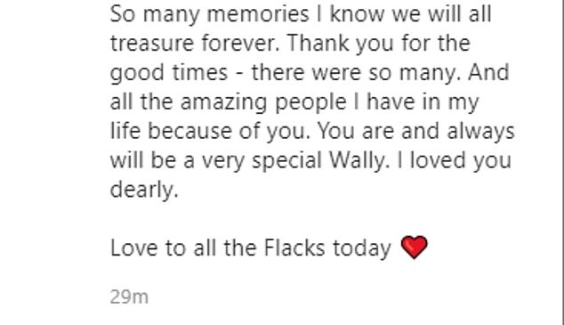 'Love to all the Flacks': She shared the snaps with this beautiful accompanying caption