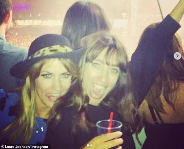 Memories: Fellow TV presenter Laura Jackson shared a couple of pictures of them both having fun at gigs