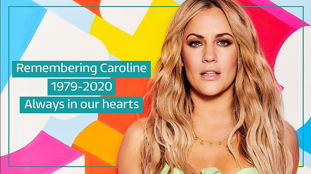 'Always in our hearts': ITV also paid tribute to Caroline with this picture