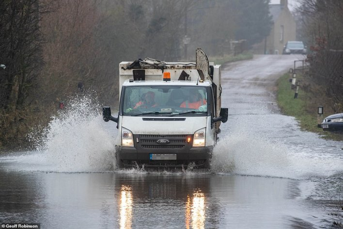 More than a dozen flood alerts are in place in parts of Scotland with rising temperatures - which could reach as high as 61F and make the UK warmer than Athens - expected to spark a rapid thaw across Britain this week