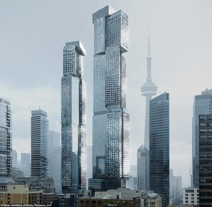 These towers byToronto-born architect Frank Gehry are set to transform the skyline of the city where he was born