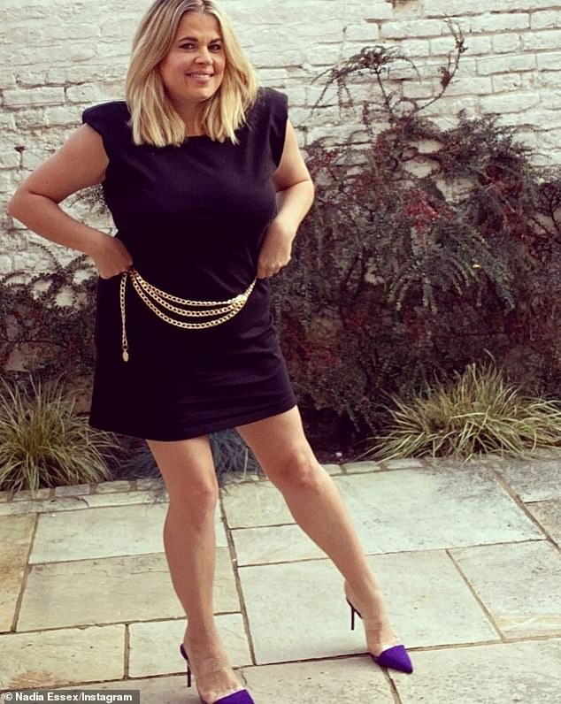 Age 39 and no health woes: Reality star Nadia Essex took to Twitter to reveal she had been offered the vaccine already but felt guilty for taking it so soon in the roll-out