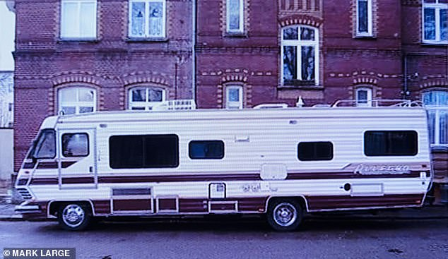 The image was revealed by one of Brueckner's ex-girlfriends, who lived with him in a nearby motorhome for a time (pictured, the vehicle where they are thought to have stayed)