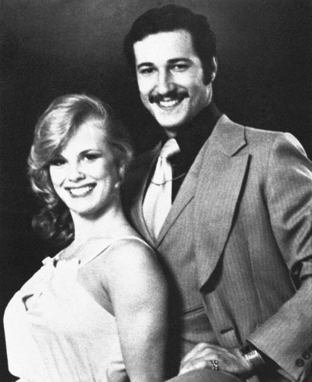 Striking gold: Paul Snider, a self-described 'Jewish pimp' from Canada, gave Banerjee and Nahin the idea for the all-male strip night. He's pictured with his wife Dorothy Stratten