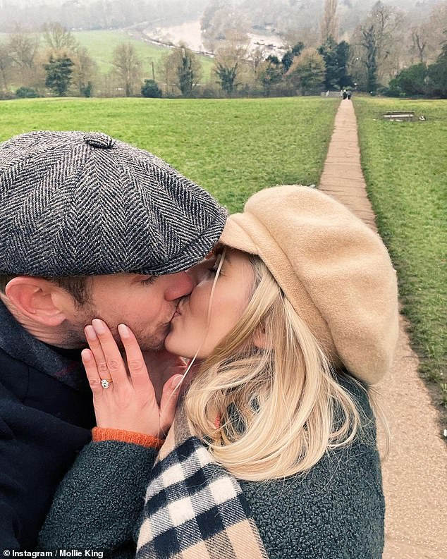 Next step:The couple announced their engagement on New Year's Day following a nearly eight-year, on-off relationship