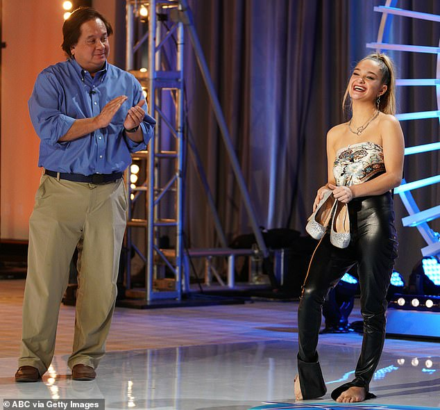 Her audition, which was filmed last fall and was heavily promoted by the network in the days leading up to the episode airing, ended up being stretched out over two segments. She is pictured above with her father George Conway