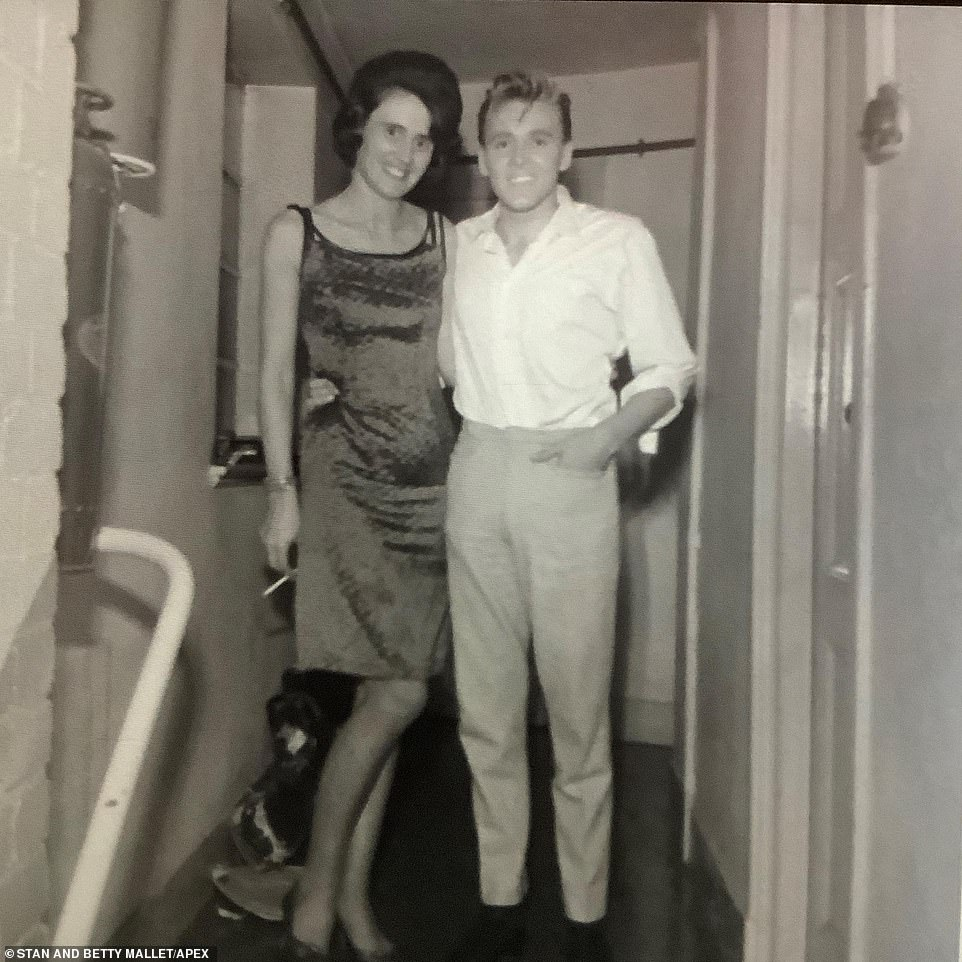 Singer Billy Fury is pictured with photographer Betty Mallett in Exeter. Fury, who died aged 42 in 1983, was an English singer and actor. He equalled The Beatles' record of 24 hits in the 1960s and spent 332 weeks on the UK chart. AllMusic journalist Bruce Eder said his 'mix of rough-hewn good looks and unassuming masculinity, coupled with an underlying vulnerability, all presented with a good voice and some serious musical talent, helped turn [him] into a major rock and roll star in short order'