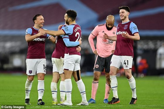 West Ham took a pleasant 3-0 victory which pushes them to fourth place in the league table