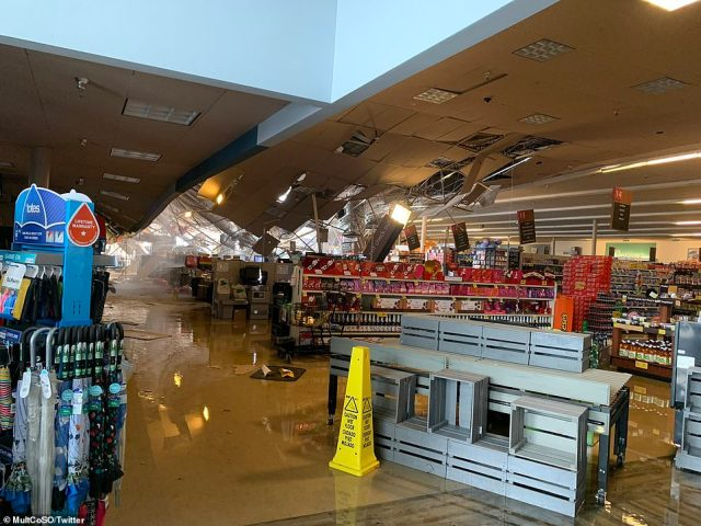 OREGON: Heavy snowfall caused a partial roof collapse at a Safeway supermarket in Troutdale, on SW Cherry Park Rd. There were no reported injuries