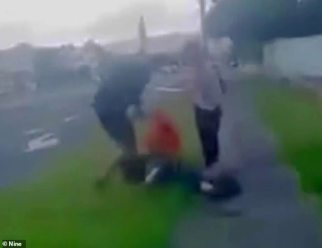 An elderly man has been allegedly bashed by teenagers for his cigarettes while his desperate wife tried to protect him, as a 13 year-old girl allegedly filmed the attack