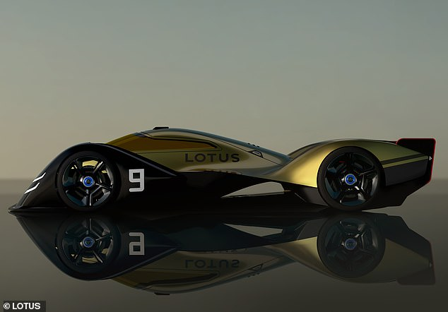Racer for 2030: The E-R9 is Lotus' vision for an electric endurance race car for when new petrol and diesel vehicle sales are banned in the UK